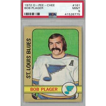 1972/73 O-Pee-Chee Hockey #161 Bob Plager PSA 9 (Mint) *6775 (Reed Buy)
