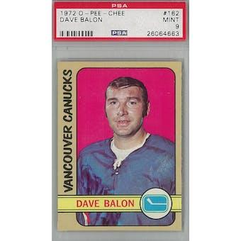 1972/73 O-Pee-Chee Hockey #162 Dave Balon PSA 9 (Mint) *4663 (Reed Buy)