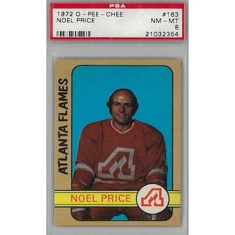 1972/73 O-Pee-Chee Hockey #163 Noel Price PSA 8 (NM-MT) *2354 (Reed Buy)