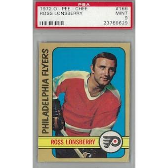1972/73 O-Pee-Chee Hockey #166 Ross Lonsberry PSA 9 (Mint) *8629 (Reed Buy)