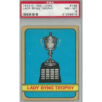 1972/73 O-Pee-Chee Hockey #168 Lady Byng Trophy Winners PSA 8 (NM-MT) *8616 (Reed Buy)