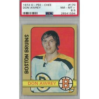 1972/73 O-Pee-Chee Hockey #170 Don Awrey PSA 8.5 (NM-MT+) *1594 (Reed Buy)