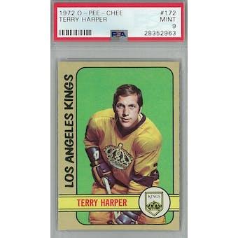 1972/73 O-Pee-Chee Hockey #172 Terry Harper PSA 9 (Mint) *2963 (Reed Buy)