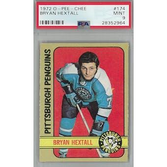 1972/73 O-Pee-Chee Hockey #174 Bryan Hextall PSA 9 (Mint) *2964 (Reed Buy)