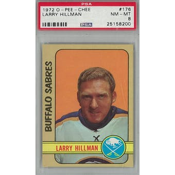 1972/73 O-Pee-Chee Hockey #176 Larry Hillman PSA 8 (NM-MT) *8200 (Reed Buy)