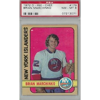 1972/73 O-Pee-Chee Hockey #179 Brian Marchinko PSA 8 (NM-MT) *3071 (Reed Buy)