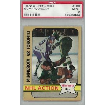 1972/73 O-Pee-Chee Hockey #189 Gump Worsley PSA 9 (Mint) *0833 (Reed Buy)