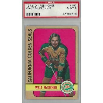 1972/73 O-Pee-Chee Hockey #192 Walt McKechnie PSA 9 (Mint) *7318 (Reed Buy)