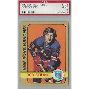 1972/73 O-Pee-Chee Hockey #194 Rod Seiling PSA 9 (Mint) *5019 (Reed Buy)
