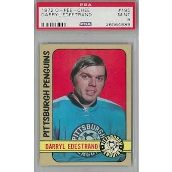 1972/73 O-Pee-Chee Hockey #195 Darryl Edestrand PSA 9 (Mint) *4689 (Reed Buy)