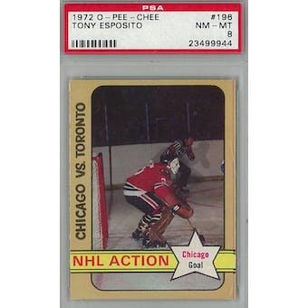 1972/73 O-Pee-Chee Hockey #196 Tony Esposito PSA 8 (NM-MT) *9944 (Reed Buy)