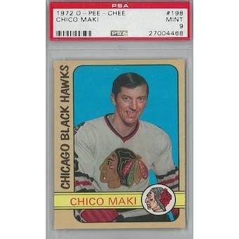 1972/73 O-Pee-Chee Hockey #198 Chico Maki PSA 9 (Mint) *4468 (Reed Buy)