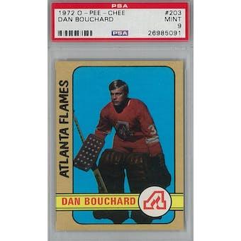 1972/73 O-Pee-Chee Hockey #203 Dan Bouchard RC PSA 9 (Mint) *5091 (Reed Buy)