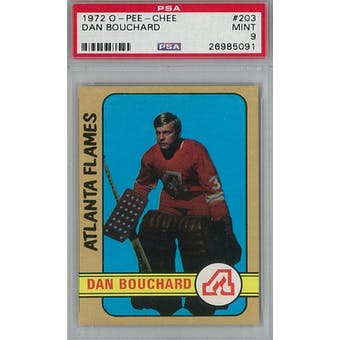 1972/73 O-Pee-Chee Hockey #203 Dan Bouchard RC PSA 9 (Mint) *5091 (Reed Buy)