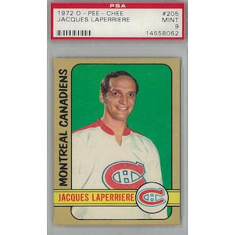 1972/73 O-Pee-Chee Hockey #205 Jacques Laperriere PSA 9 (Mint) *8062 (Reed Buy)