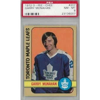 1972/73 O-Pee-Chee Hockey #207 Garry Monahan PSA 8 (NM-MT) *6007 (Reed Buy)