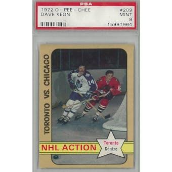 1972/73 O-Pee-Chee Hockey #209 Dave Keon PSA 9 (Mint) *1964 (Reed Buy)