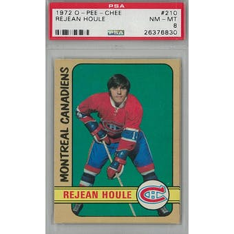 1972/73 O-Pee-Chee Hockey #210 Rejean Houle PSA 8 (NM-MT) *6830 (Reed Buy)