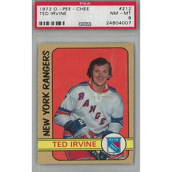 1972/73 O-Pee-Chee Hockey #212 Ted Irvine PSA 8 (NM-MT) *4007 (Reed Buy)