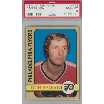 1972/73 O-Pee-Chee Hockey #213 Don Saleski RC PSA 8 (NM-MT) *1531 (Reed Buy)