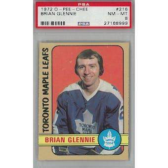 1972/73 O-Pee-Chee Hockey #216 Brian Glennie PSA 8 (NM-MT) *8999 (Reed Buy)