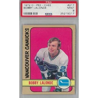 1972/73 O-Pee-Chee Hockey #217 Bobby Lalonde PSA 9 (Mint) *5017 (Reed Buy)