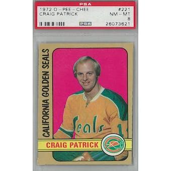 1972/73 O-Pee-Chee Hockey #221 Craig Patrick PSA 8 (NM-MT) *3621 (Reed Buy)