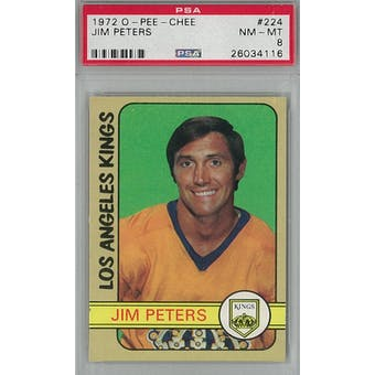 1972/73 O-Pee-Chee Hockey #224 Jim Peters PSA 8 (NM-MT) *4116 (Reed Buy)