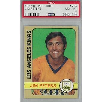 1972/73 O-Pee-Chee Hockey #224 Jim Peters PSA 8 (NM-MT) *4116 (Reed Buy)