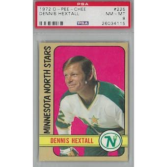 1972/73 O-Pee-Chee Hockey #225 Dennis Hextall PSA 8 (NM-MT) *4115 (Reed Buy)