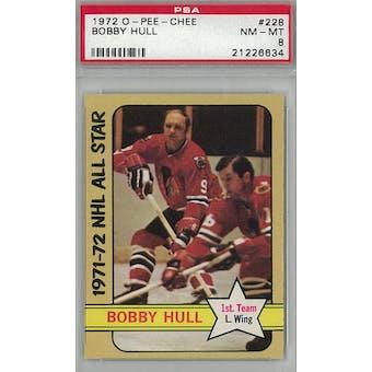 1972/73 O-Pee-Chee Hockey #228 Bobby Hull PSA 8 (NM-MT) *6634 (Reed Buy)