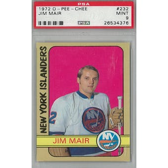 1972/73 O-Pee-Chee Hockey #232 Jim Mair PSA 9 (Mint) *4376 (Reed Buy)