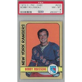 1972/73 O-Pee-Chee Hockey #233 Bobby Rousseau PSA 8 (NM-MT) *4112 (Reed Buy)
