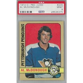 1972/73 O-Pee-Chee Hockey #235 Al McDonough PSA 9 (Mint) *4375 (Reed Buy)