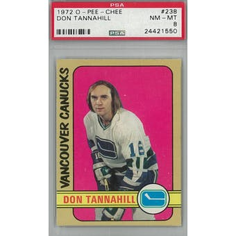 1972/73 O-Pee-Chee Hockey #238 Don Tannahill PSA 8 (NM-MT) *1550 (Reed Buy)