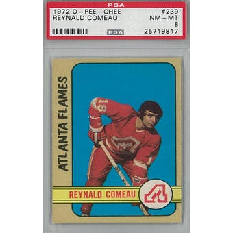 1972/73 O-Pee-Chee Hockey #239 Reynald Comeau PSA 8 (NM-MT) *9817 (Reed Buy)