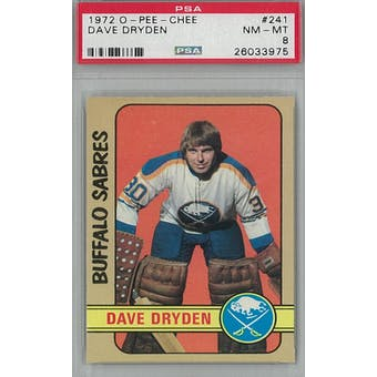 1972/73 O-Pee-Chee Hockey #241 Dave Dryden PSA 8 (NM-MT) *3975 (Reed Buy)
