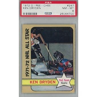 1972/73 O-Pee-Chee Hockey #247 Ken Dryden PSA 8 (NM-MT) *4700 (Reed Buy)