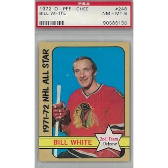 1972/73 O-Pee-Chee Hockey #248 Bill White PSA 8 (NM-MT) *6158 (Reed Buy)
