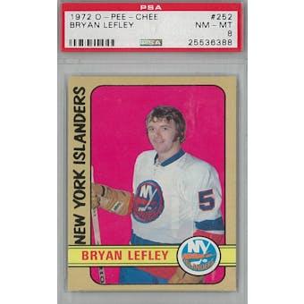 1972/73 O-Pee-Chee Hockey #252 Bryan Lefley PSA 8 (NM-MT) *6388 (Reed Buy)