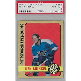 1972/73 O-Pee-Chee Hockey #256 Ken Shinkel PSA 8 (NM-MT) *4012 (Reed Buy)