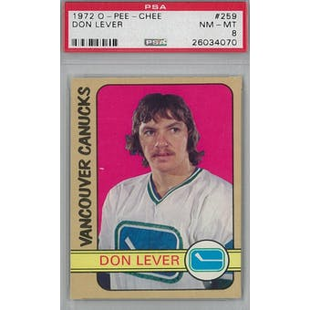 1972/73 O-Pee-Chee Hockey #259 Don Lever RC PSA 8 (NM-MT) *4070 (Reed Buy)