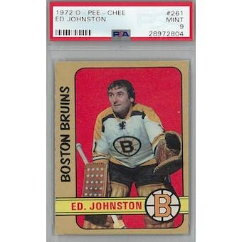 1972/73 O-Pee-Chee Hockey #261 Ed Johnston PSA 9 (Mint) *2804 (Reed Buy)