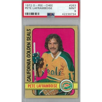 1972/73 O-Pee-Chee Hockey #263 Pete Laframboise PSA 9 (Mint) *9734 (Reed Buy)