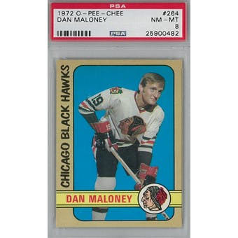 1972/73 O-Pee-Chee Hockey #264 Dan Maloney RC PSA 8 (NM-MT) *0482 (Reed Buy)