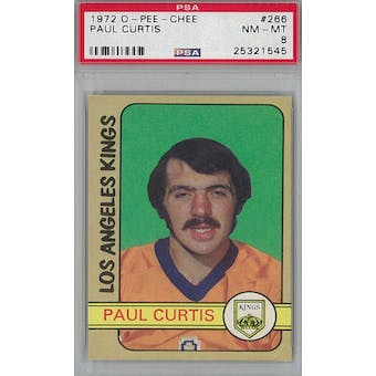 1972/73 O-Pee-Chee Hockey #266 Paul Curtis PSA 8 (NM-MT) *1545 (Reed Buy)