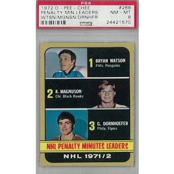 1972/73 O-Pee-Chee Hockey #268 Watson/Magnuson/Dornhoefer PSA 8 (NM-MT) *1570 (Reed Buy)