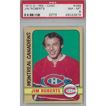 1972/73 O-Pee-Chee Hockey #269 Jim Roberts PSA 8 (NM-MT) *3979 (Reed Buy)