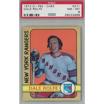 1972/73 O-Pee-Chee Hockey #271 Dale Rolfe PSA 8 (NM-MT) *3968 (Reed Buy)