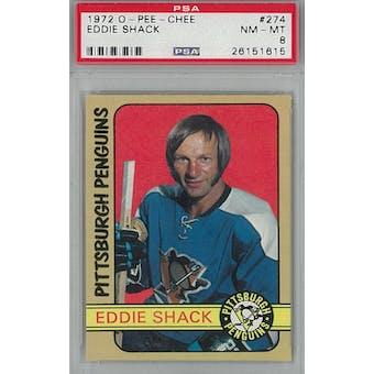 1972/73 O-Pee-Chee Hockey #274 Eddie Shack PSA 8 (NM-MT) *1615 (Reed Buy)